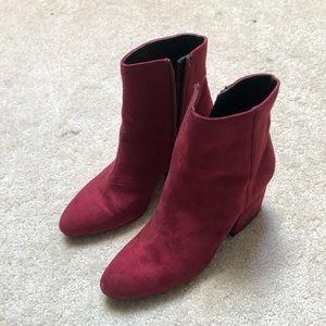 Top shop red booties